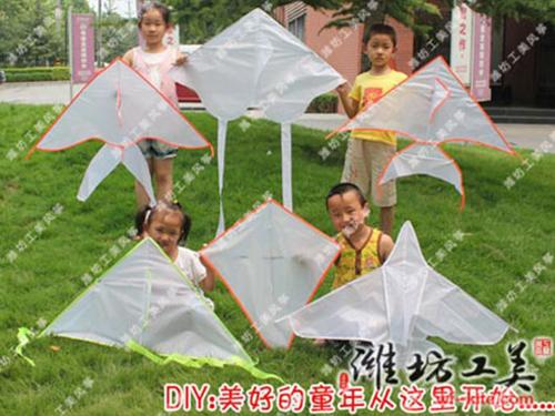 潍坊风筝厂空白DIY风筝展示