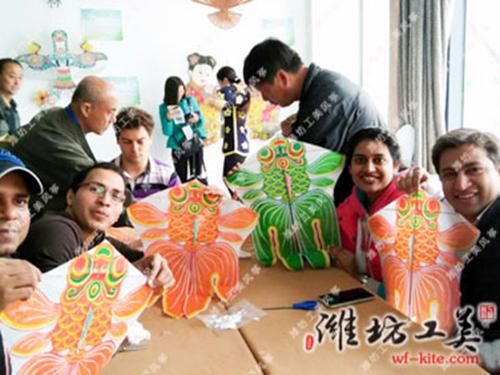潍坊风筝厂国外DIY风筝活动