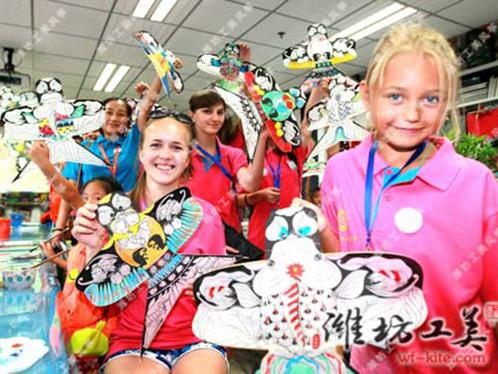 潍坊风筝厂DIY风筝国外课堂活动