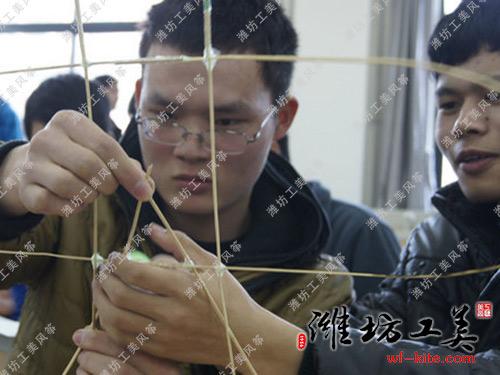 潍坊风筝厂沙燕DIY风筝骨架扎制