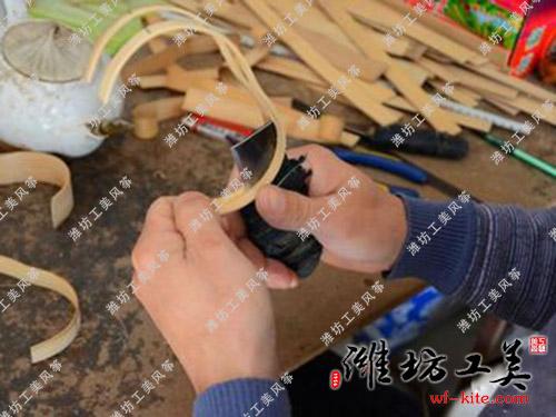 潍坊风筝厂DIY风筝生产—劈竹
