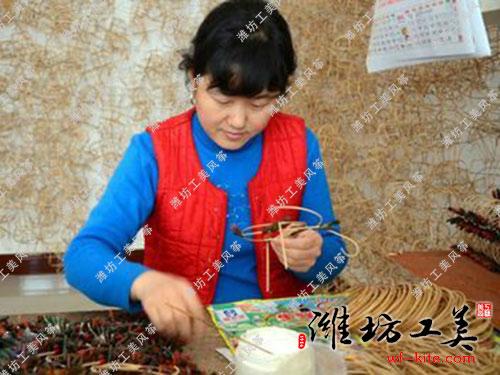 潍坊风筝厂DIY风筝生产骨架扎制
