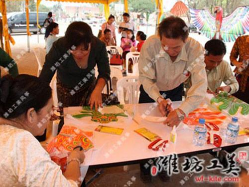潍坊风筝厂手工DIY风筝创意活动