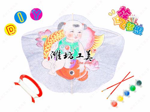 潍坊风筝厂年年有余DIY风筝图片