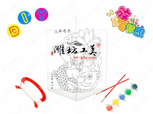 潍坊风筝厂DIY年画涂鸦填色风筝