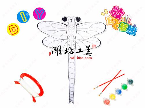 潍坊风筝厂DIY蜻蜓涂鸦填色风筝