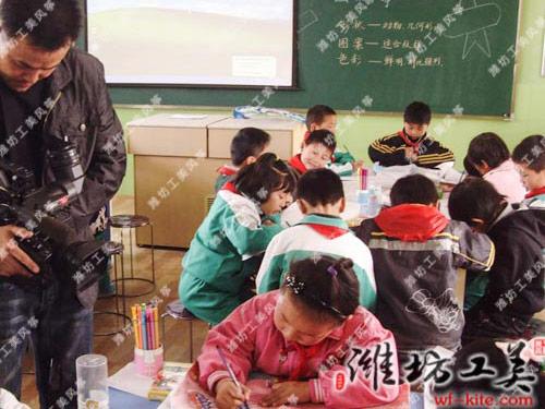 潍坊风筝厂小学生课堂DIY教学风筝