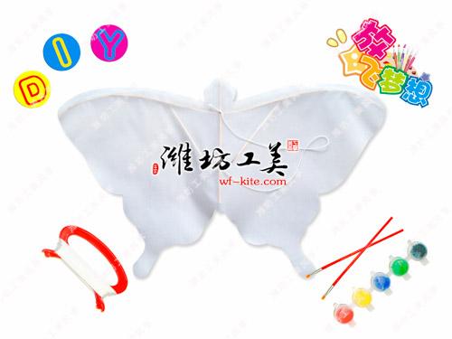 潍坊风筝厂蝴蝶形状DIY空白风筝