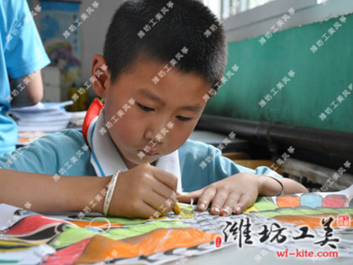 潍坊风筝厂DIY课堂彩绘活动