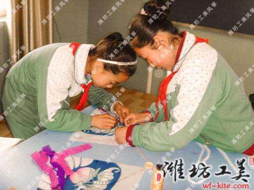 潍坊风筝厂沙燕DIY风筝制作课